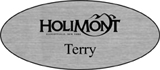 Silver Engraved Plastic Name Badge