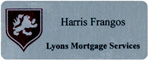 Silver Metal Name Tag For Mortgage Co.