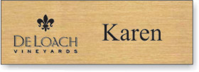 Gold plastic engraved name tag