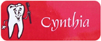 Red Clinic Name Tag With Magnet