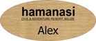 Gold Engraved Name Tag