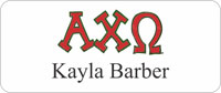 Alpha Chi Omega Sorority Name Tag