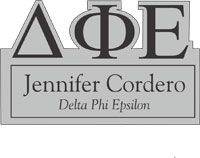Delta Phi Epsilon Cut Out Greek Letter Name Tag
