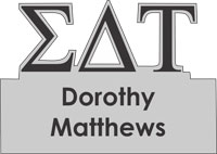 Sigma Delta Tau Greek Cut Out Name Tag