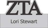 Zeta Tau Alpha Greek Cut Out Name Badge