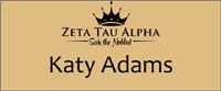 Zeta Tau Alpha Gold Name Badge